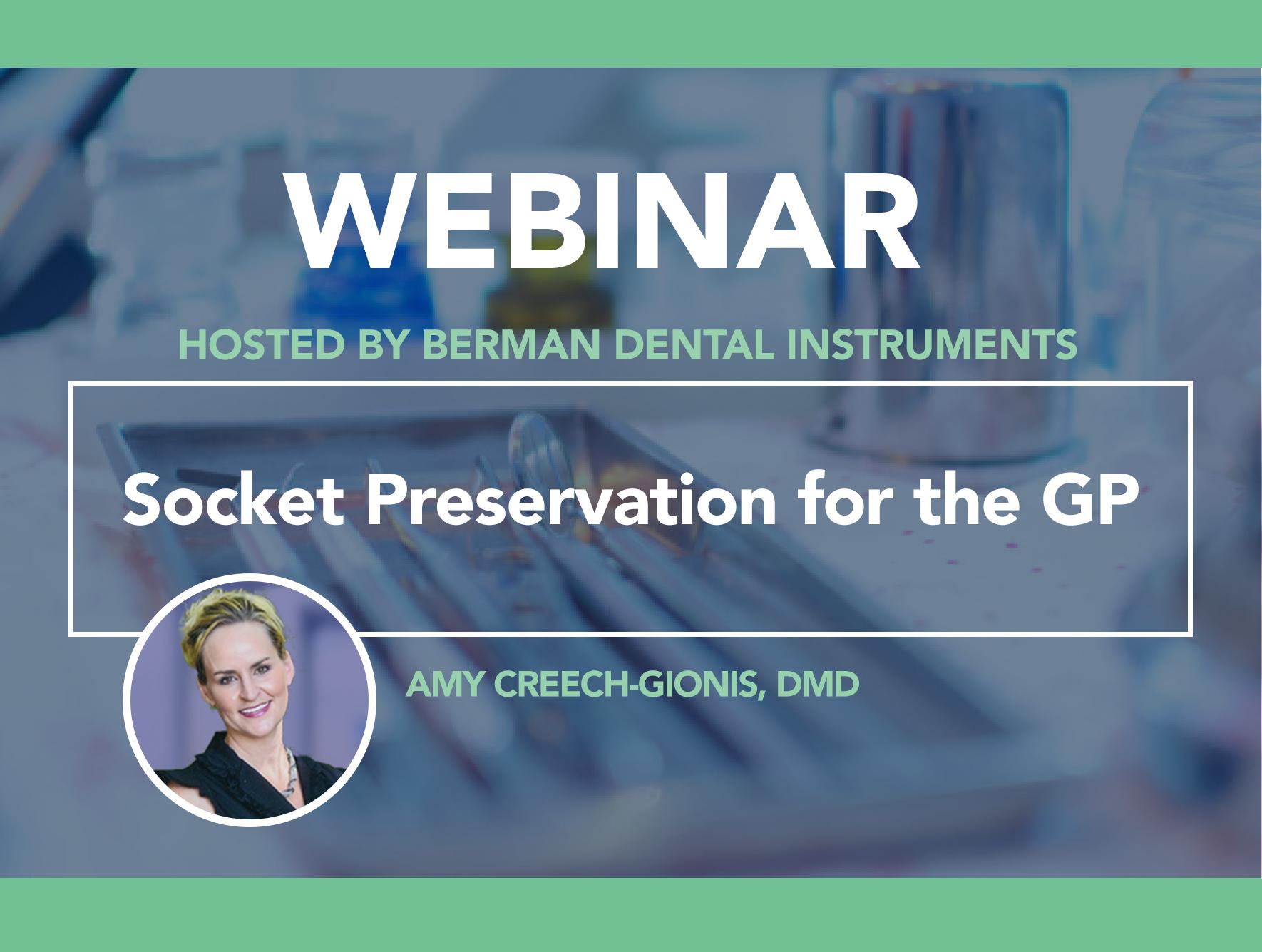 Webinar: Socket Preservation for the GP